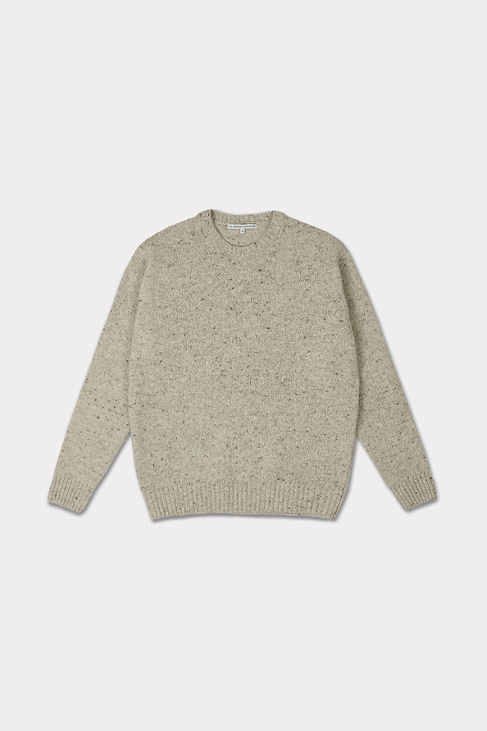 WOOL NEP CREW NECK SWEATER BEIGE (UNISEX)