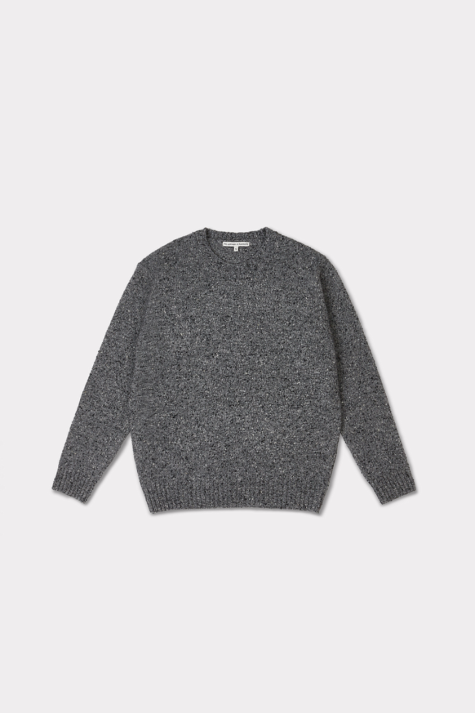 WOOL NEP CREW NECK SWEATER GREY (UNISEX)