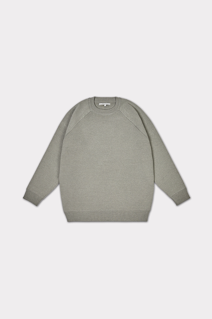 RAGLAN DOUBLE JERSEY CREWNECK SWEATER LIGHT GREY (UNISEX)