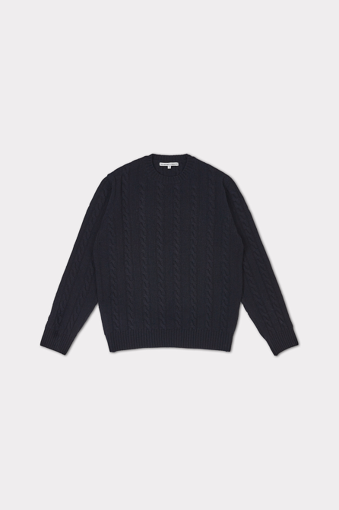 MERINO WOOL CABLE CREWNECK SWEATER NANY (MEN)